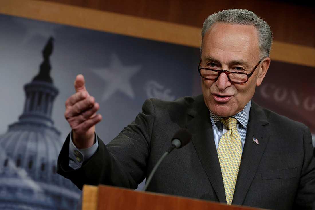 Minoritetsledaren i senaten Chuck Schumer.