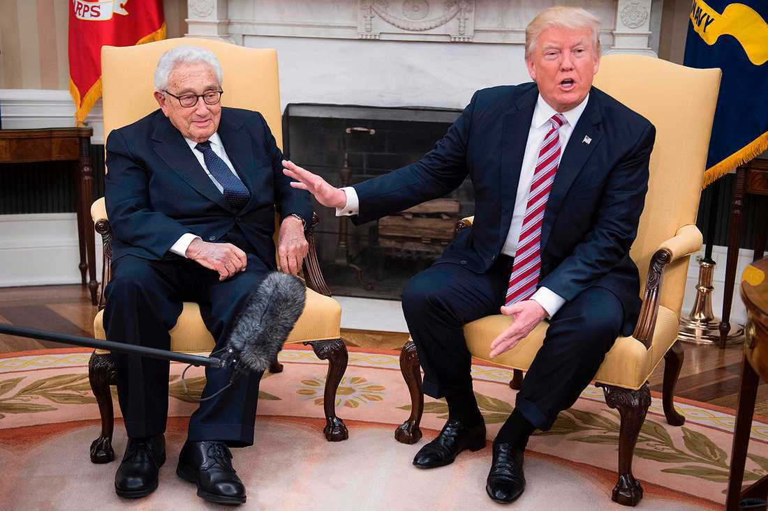 Kissinger och Trump.