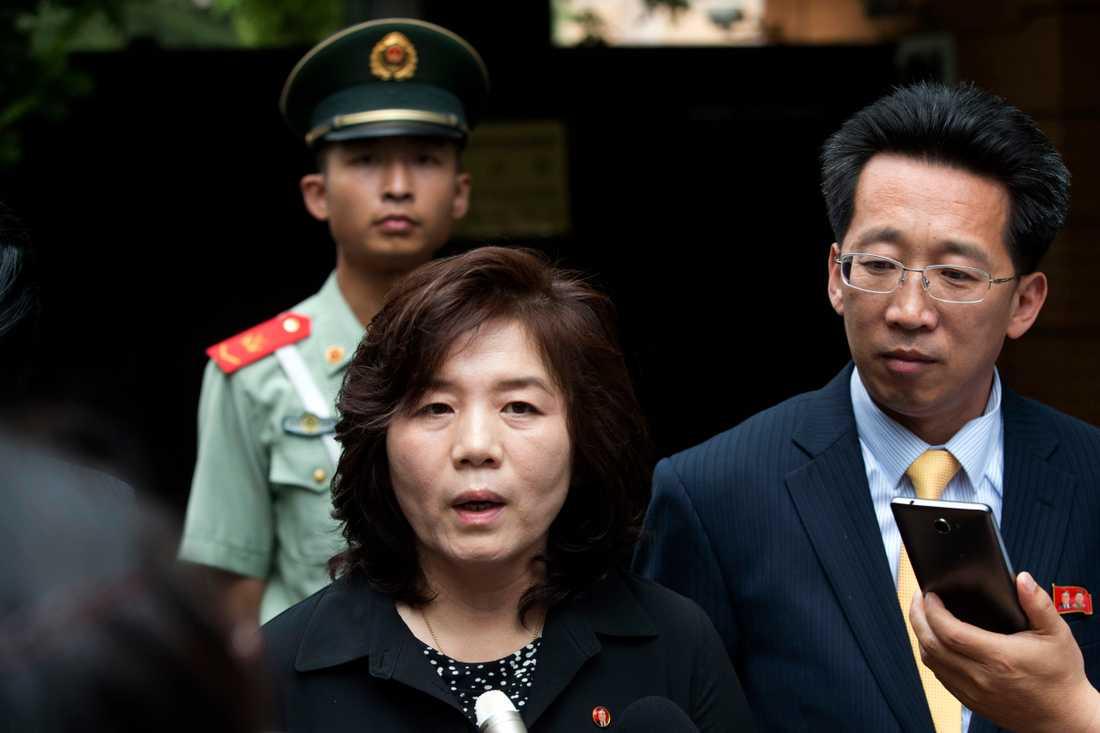 Choe Son-Hui, biträdande utrikesminister i Nordkorea. Arkivbild.