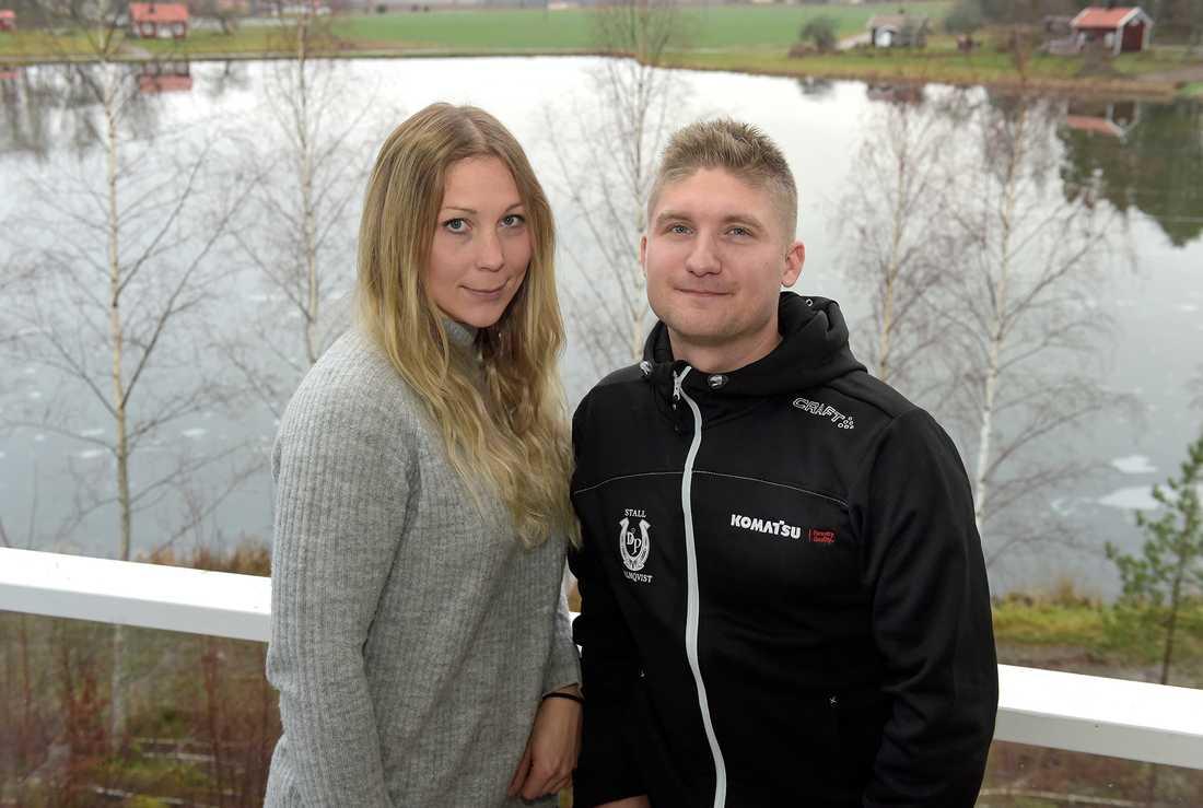 Rebecca Dahlén och Dennis Palmqvist.