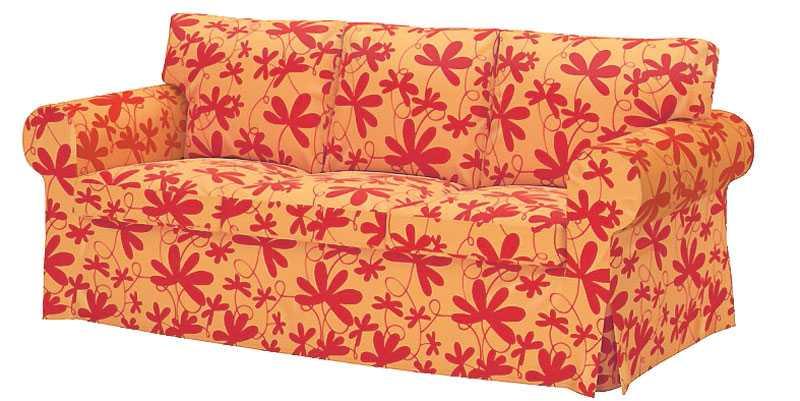 """Wow! Här finns en soffa för färgstarka personligheter. Soffa """"Ektorp"""" i klädsel """"Bondarp"""", 4695 kr."""