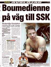 Sportbladet 6 november. Och när är landslagsbacken klar för SSK.