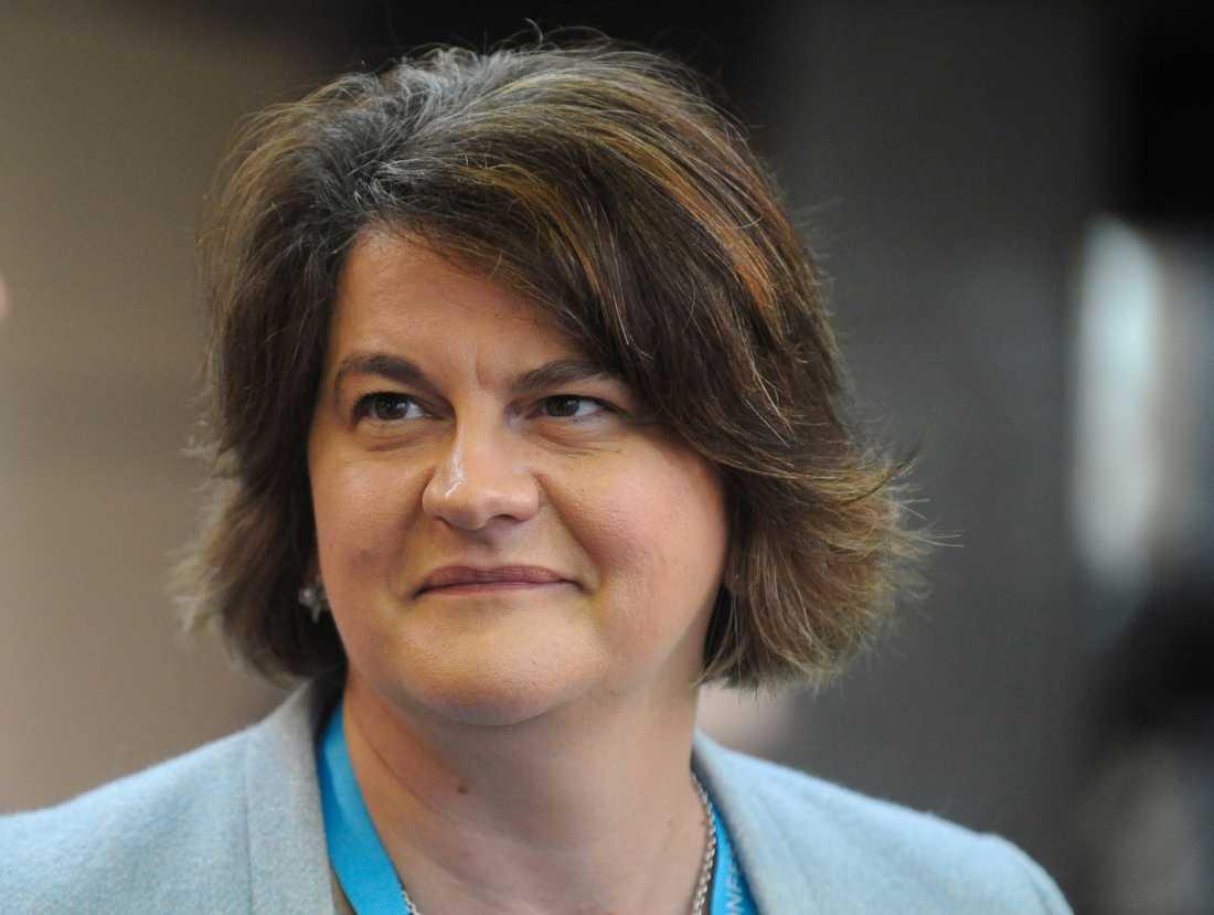 Arlene Foster, ledare för nordirländska unionistpartiet DUP.