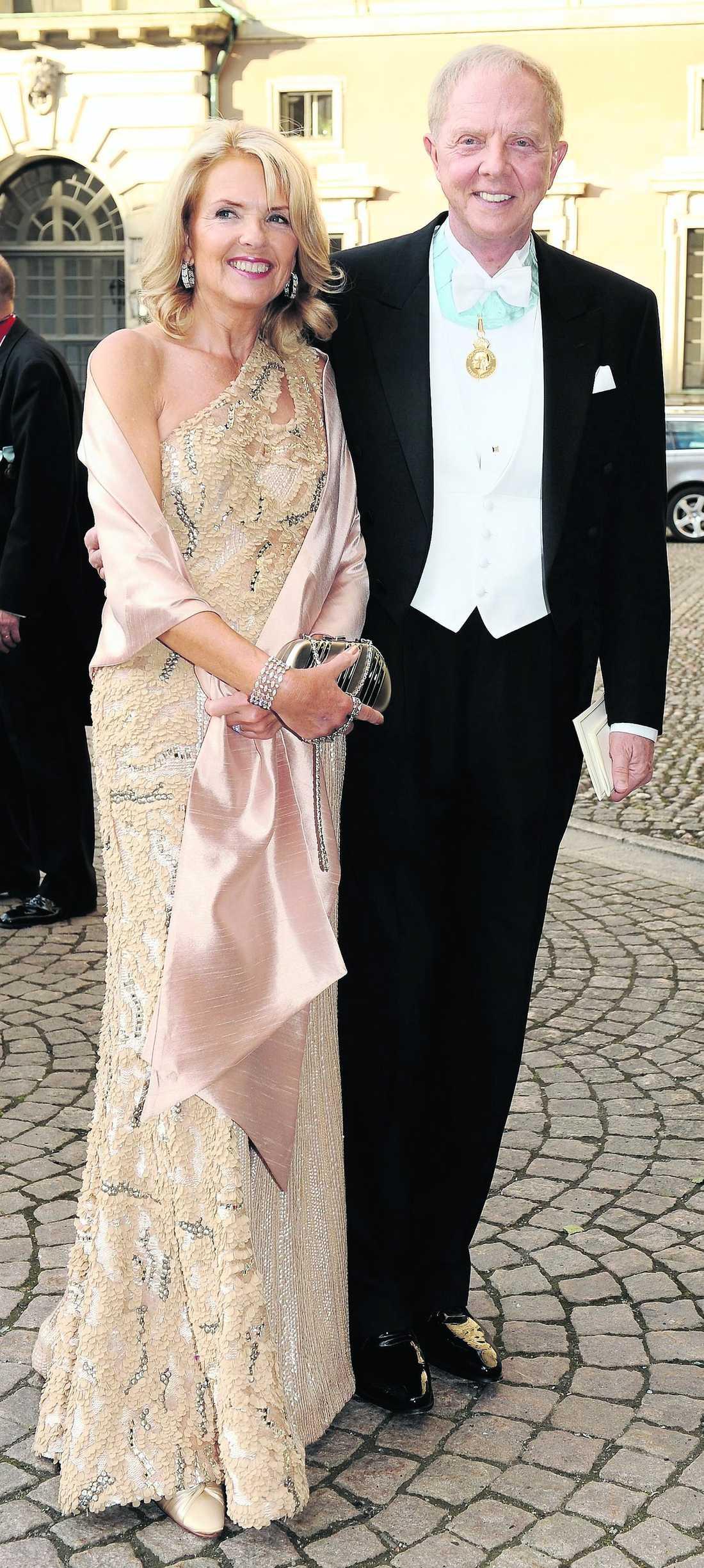 Bertil och Lisbeth Hult vid Victoria och Daniels bröllop.