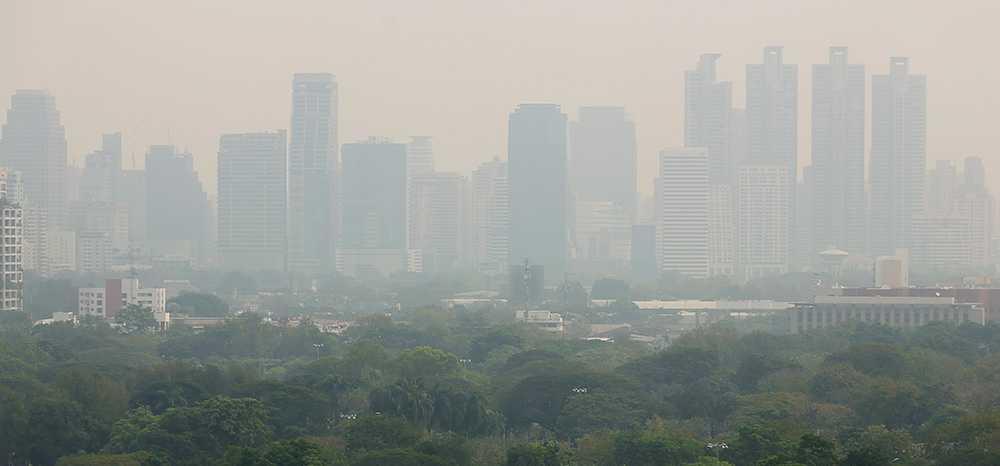 Bangkok har drabbats av giftig smog.