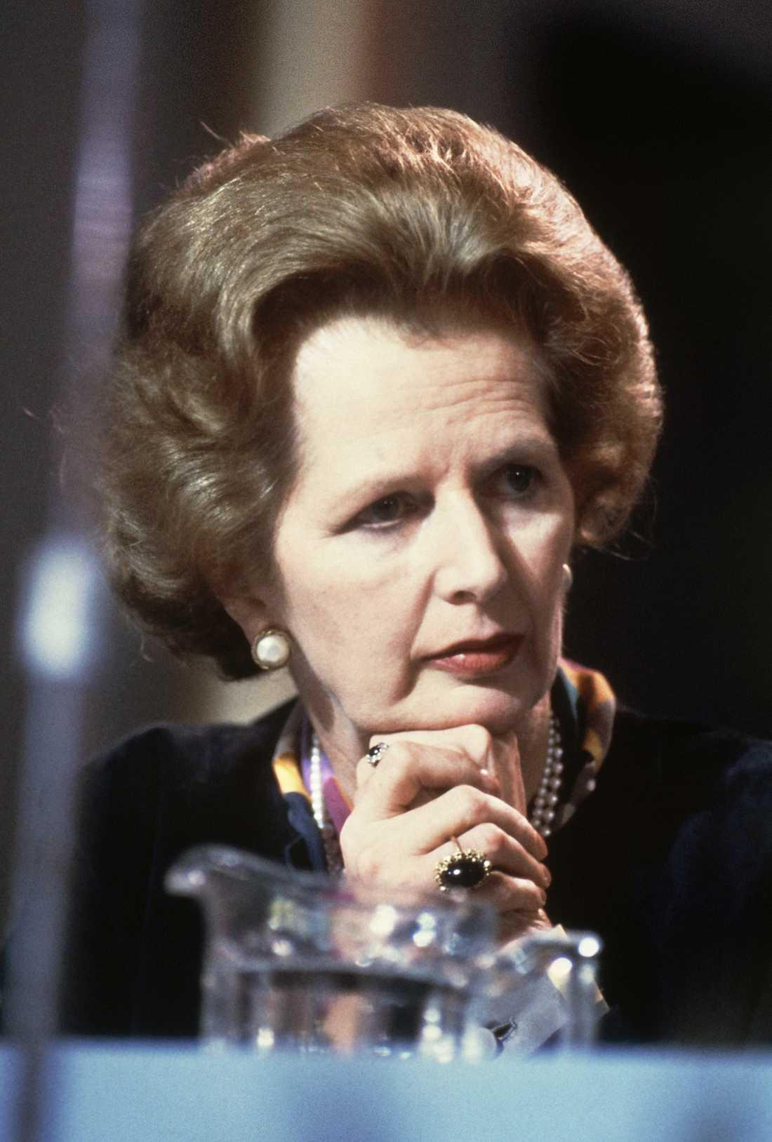 Den legendariska brittiska premiärministern Margaret Thatcher.