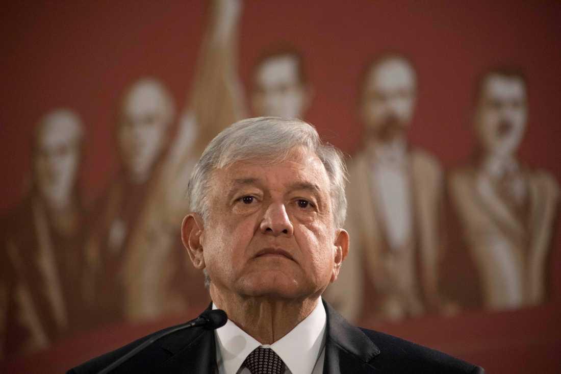 Maxikos president Andrés Manuel López Obrador. Arkivbild.