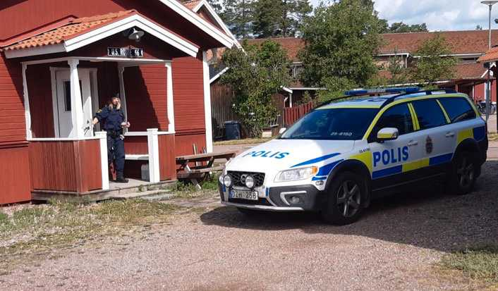 Ett grovt brott har inträffat i centrala Rättvik i Dalarna.