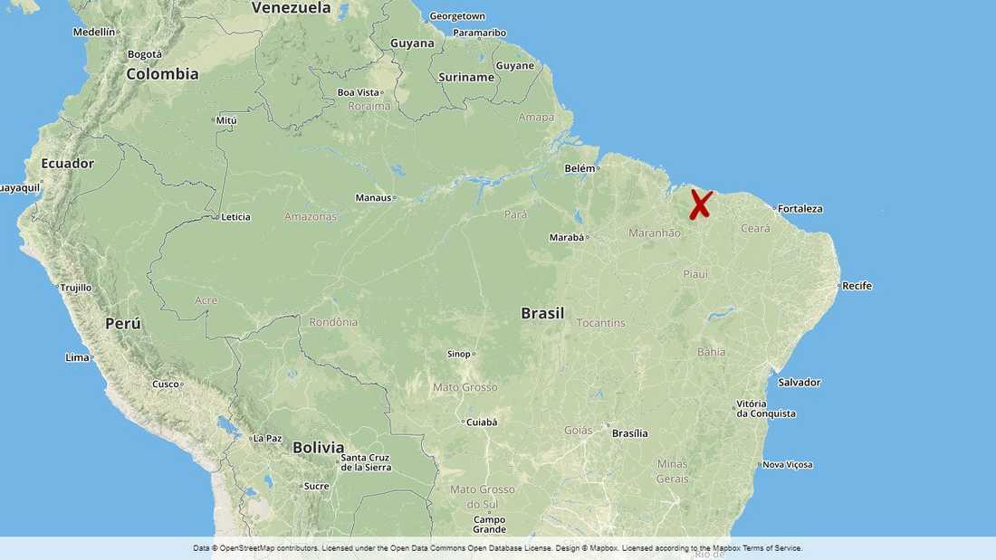 Skjutningen ägde rum i Cana Brava-reservatet i östra Brasilien.