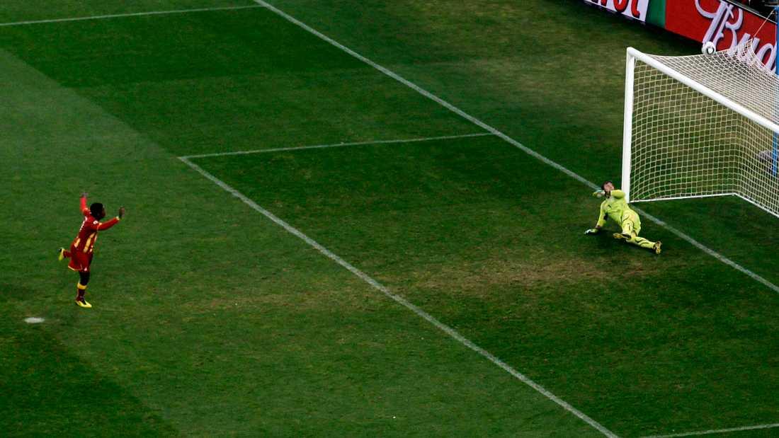Asamoah Gyans tunga straffmiss i VM-kvartsfinalen 2010.