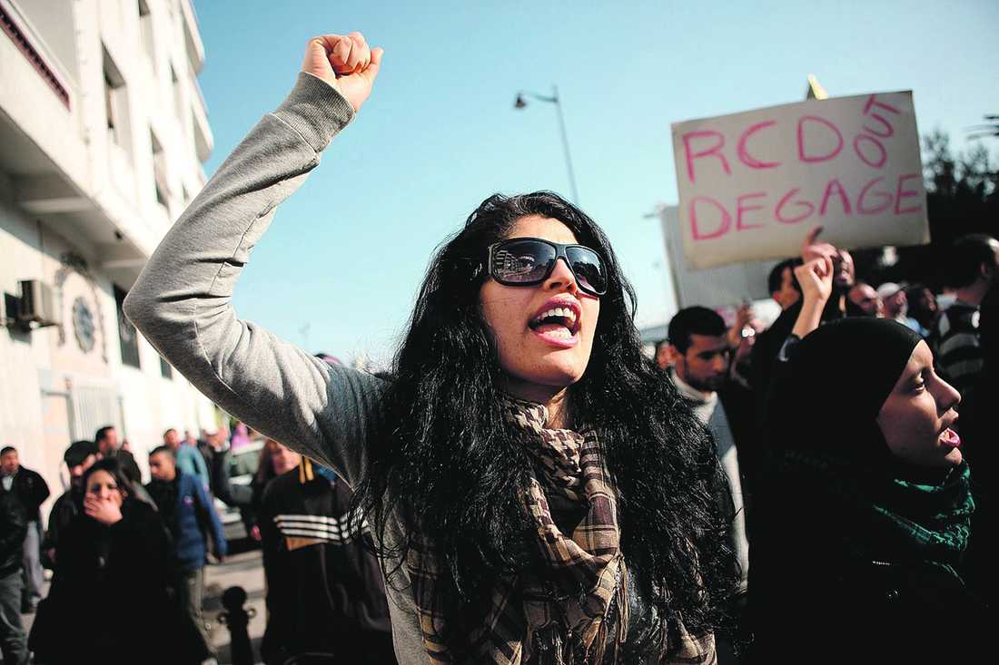 Arabiska våren Demonstrationerna 2011 ledde till demokrati i Tunisien.