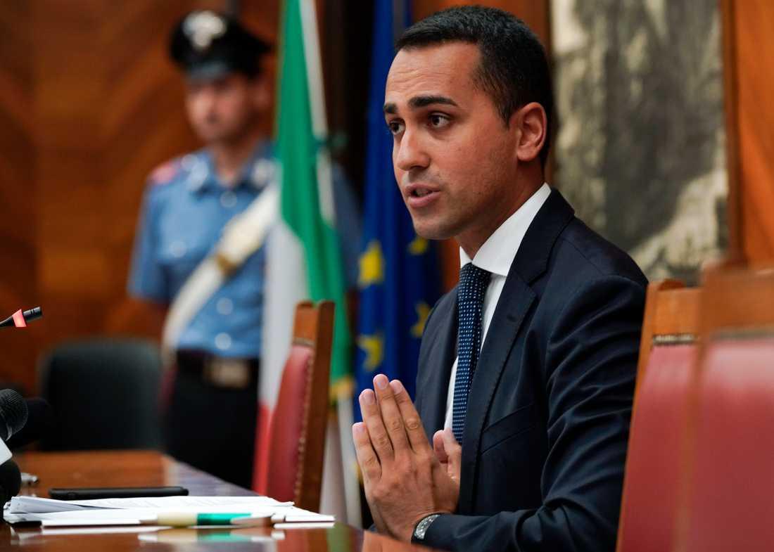 Italiens vice premiärminister Luigi Di Maio vill att stora köpcentrum ska hållas mer stängda på söndagar. Bild från den 23 augusti.