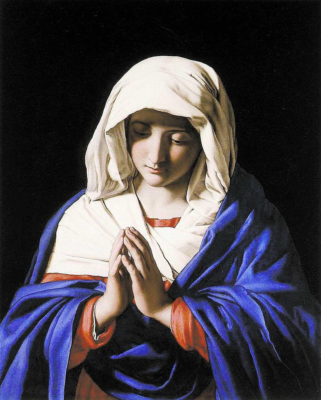 """maria hör bön I experimentet fick troende katoliker titta på Sassoferratos målning """"Jungfru Maria"""" samtidigt som de fick elchocker – och då gjorde det inte så ont."""