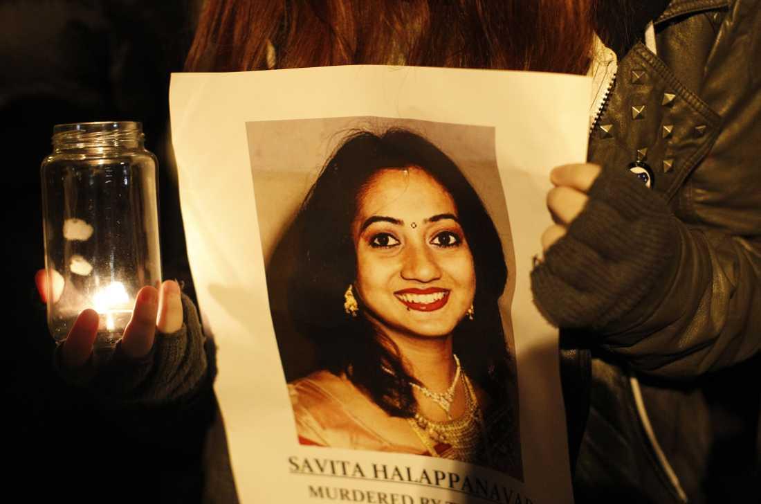 Savita Halappanavar blev 31 år gammal.