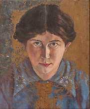 """""""Självporträtt"""", 1914."""