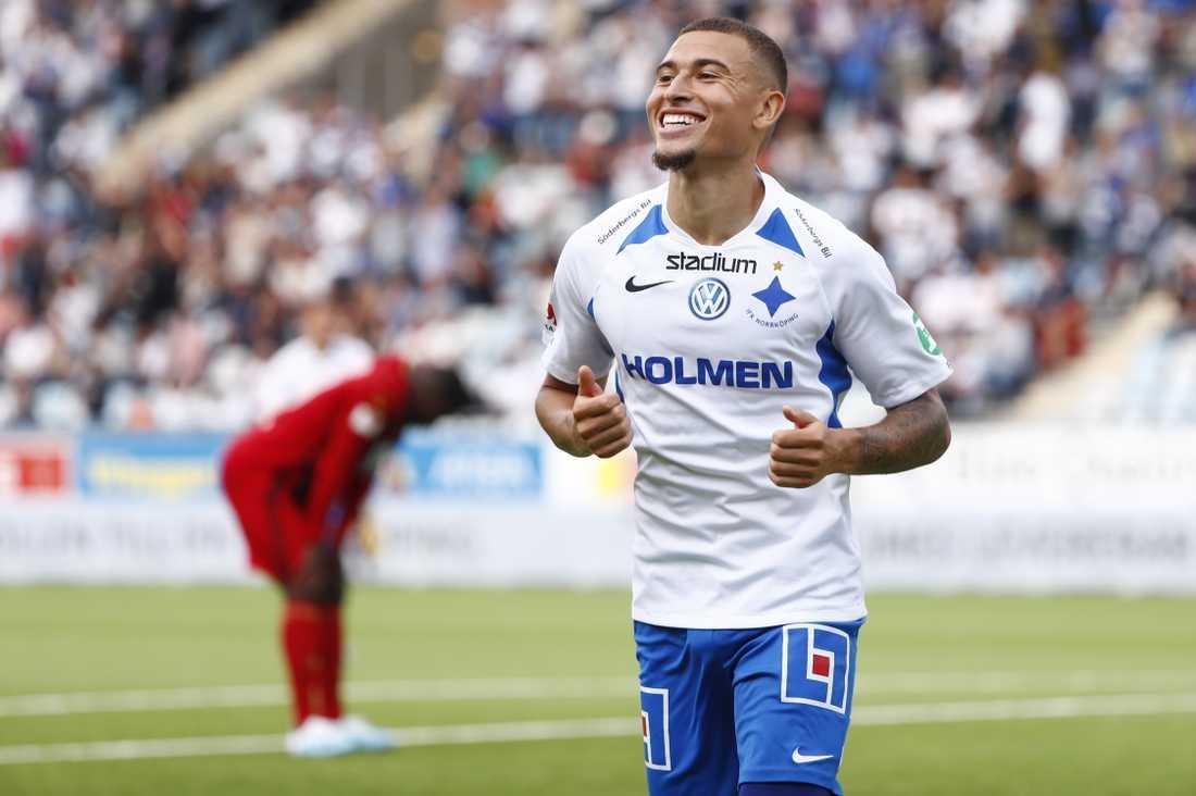 Jordan Larsson får chansen att visa upp sig i landslaget efter sin succévår i IFK Norrköping och fina prestationer i Spartak Moskva. Arkivbild.