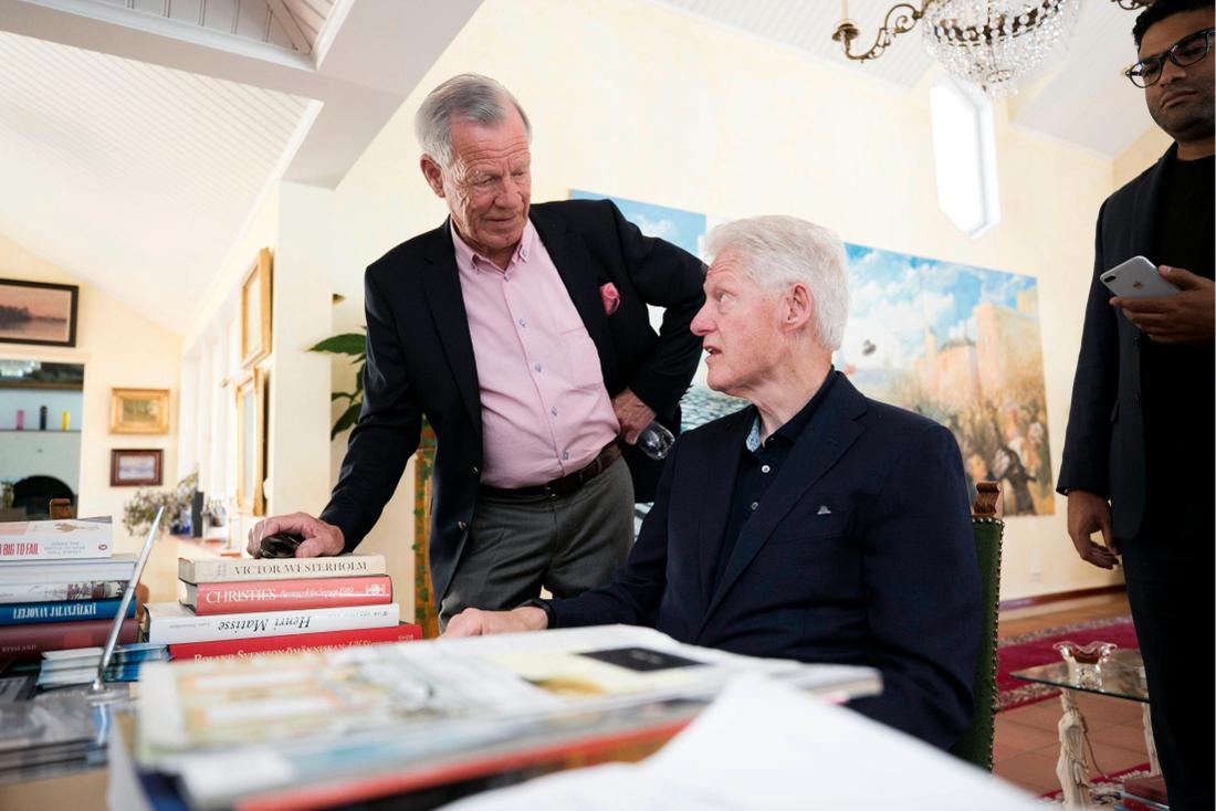 Bill Clinton med åländske miljardären Anders Wiklöf.