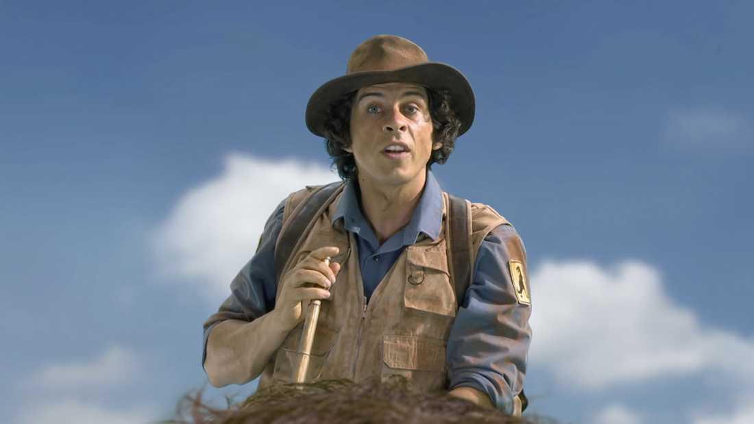 """Karaktären Andy i barnprogrammet """"Andys förhistoriska äventyr"""" arbetar på Nationalhistoriska museet."""