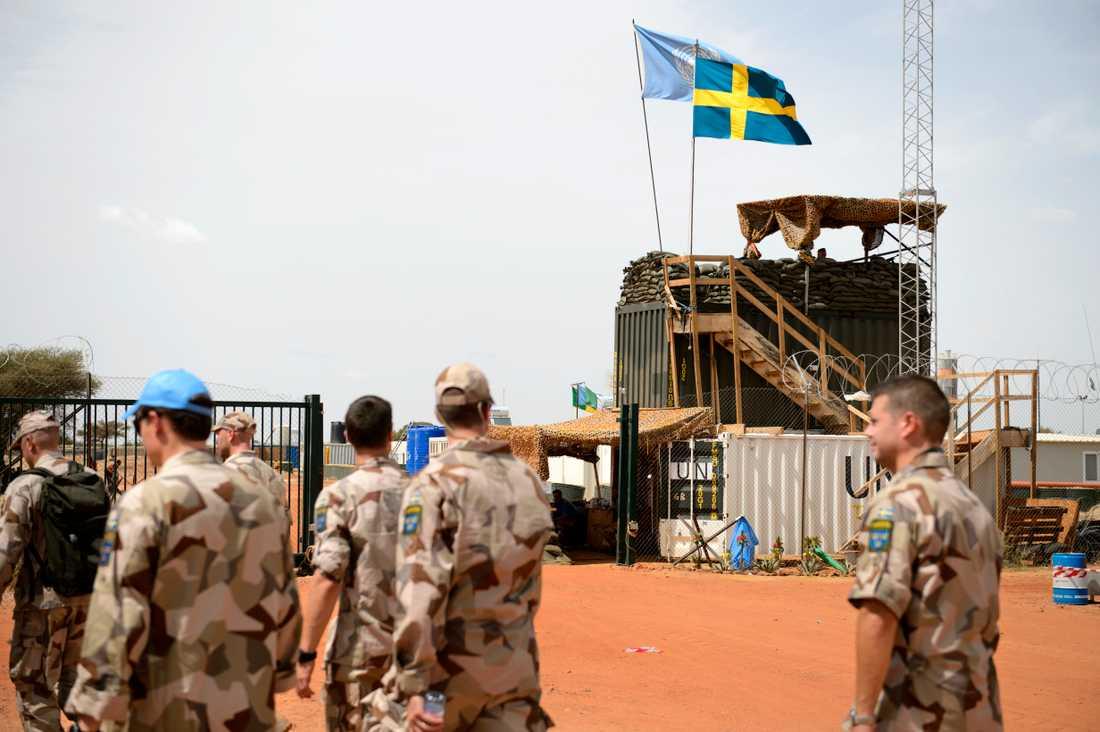 Den svenska Camp Nobel i Mali. Arkivbild.