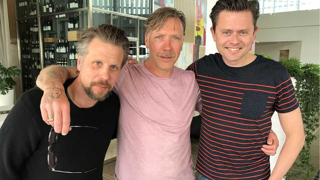 Mikael Persbrandt med Filip & Fredrik.