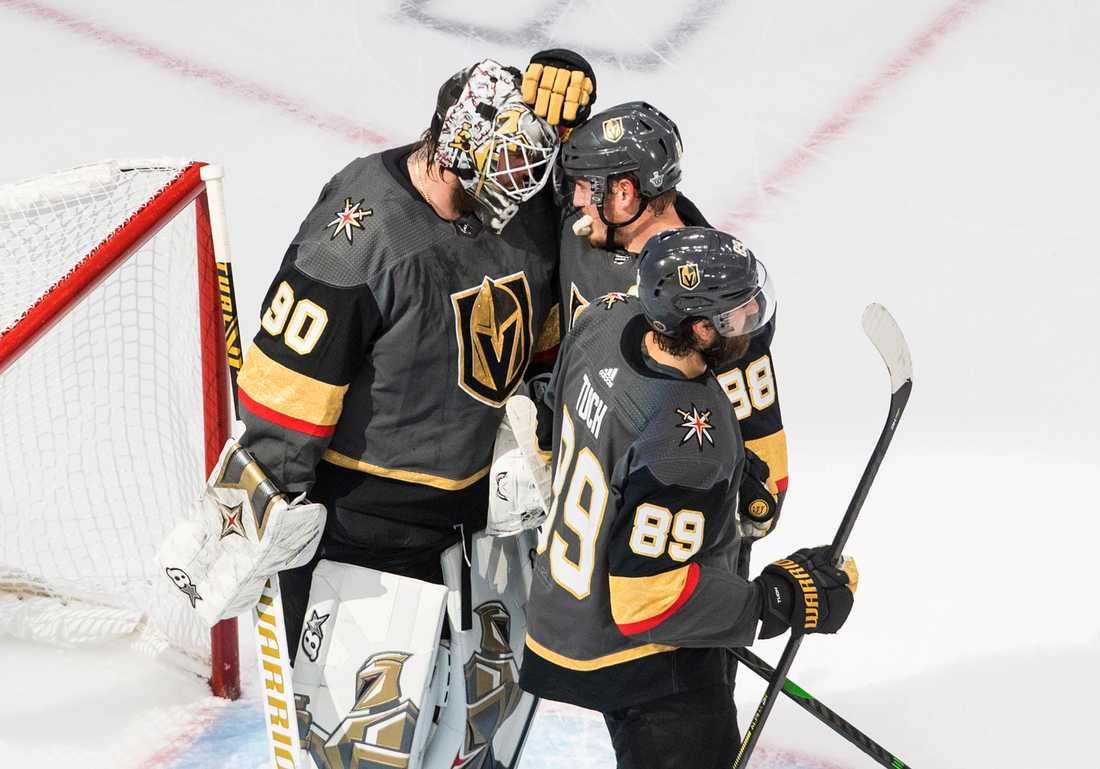 Robin Lehner kramas om under sensommarens Stanley Cup-slutspel.