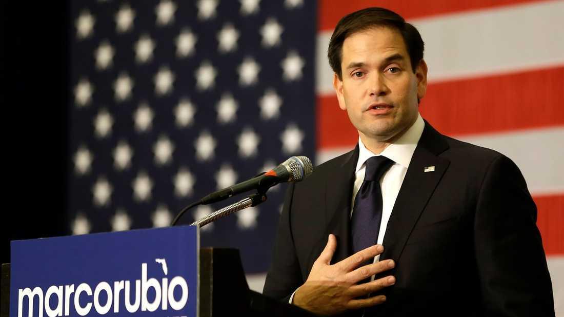 Den republikanske senatorn Marco Rubio.