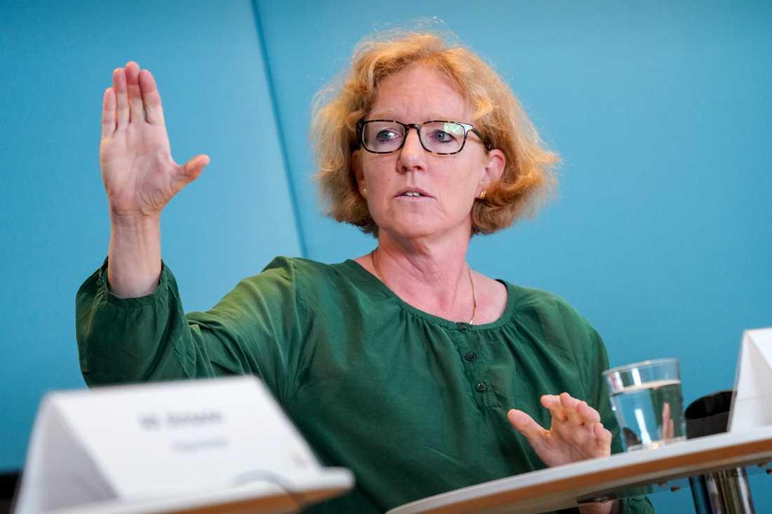 Eva Melander, smittskyddsläkare, under Region Skånes pressträff med fokus på covid19-situationen i Skåne.