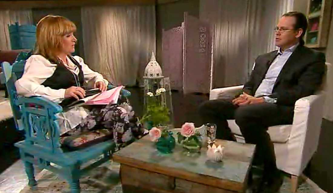 """Anders Borg flaggar för sin avgång under den öppenhjärtiga intervjun med Malou von Sivers i """"Efter tio"""" i dag."""