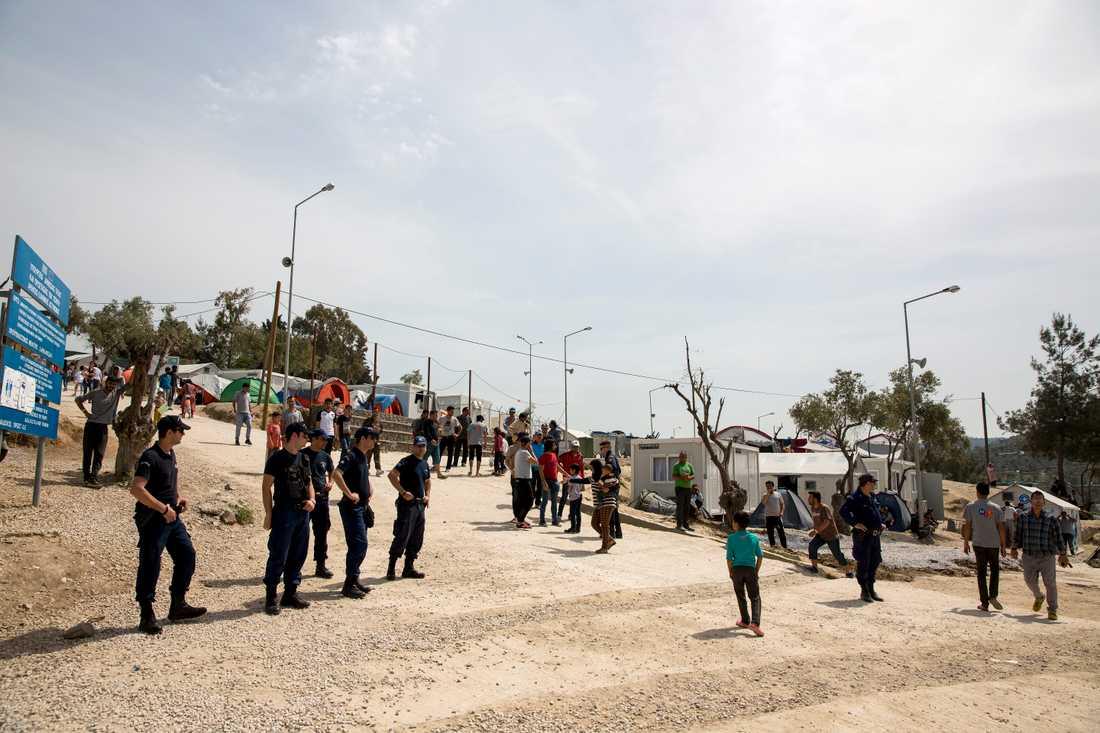 Många migranter kommer till Lesbos. Arkivbild.
