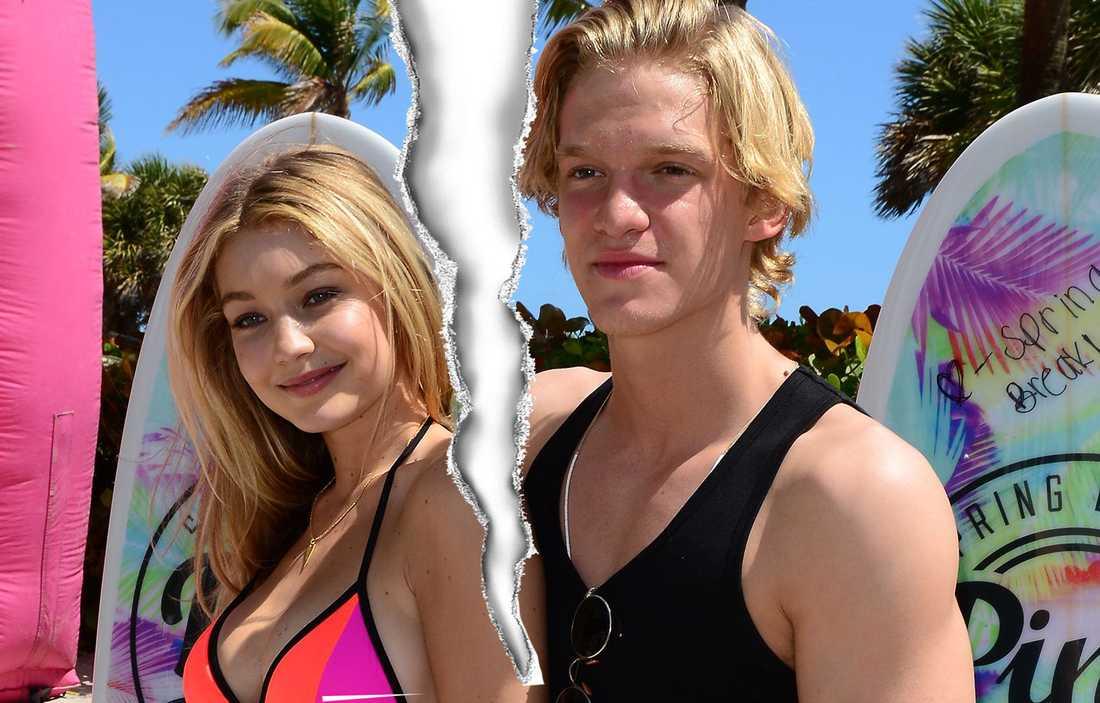 Gigi Hadid och Cody Simpson går skilda vägar.