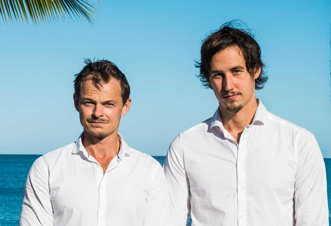 Aftonbladets Peter Wixtröm och Christoffer Nilsson på plats i Viti Levu.