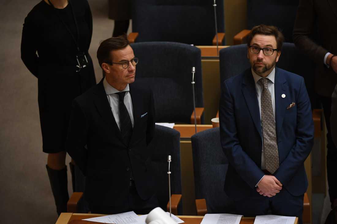Ulf Kristersson (m) inför förmiddagens statsministeromröstning.