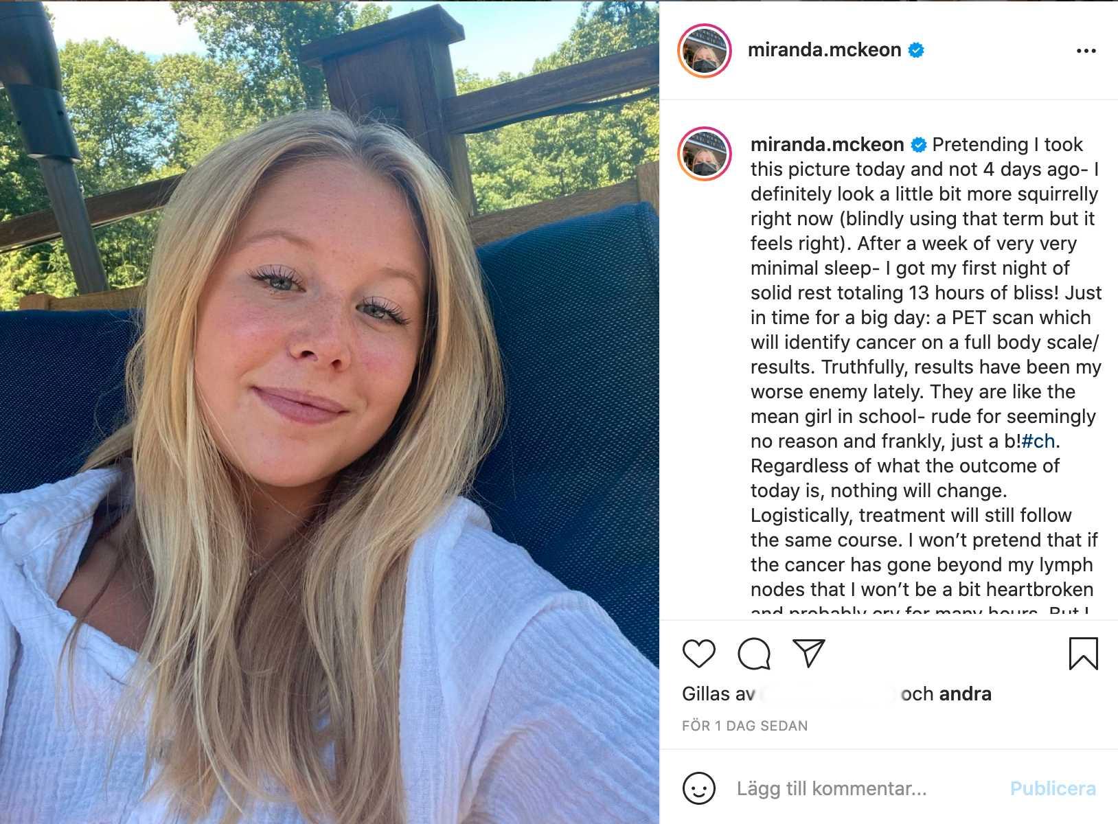 Miranda McKeon på Instagram.