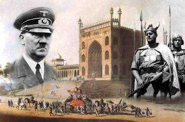 """Myten om arierna som ett """"högtstående blont vikingafolk"""" odlades grundligt av nazismen och Adolf Hitler och gjordes till en egen stolt nationalhistoria. Sanningen var istället att forskare långt tidigare hade hittat ett samband med Indien i de allra äldsta indiska skrifterna."""