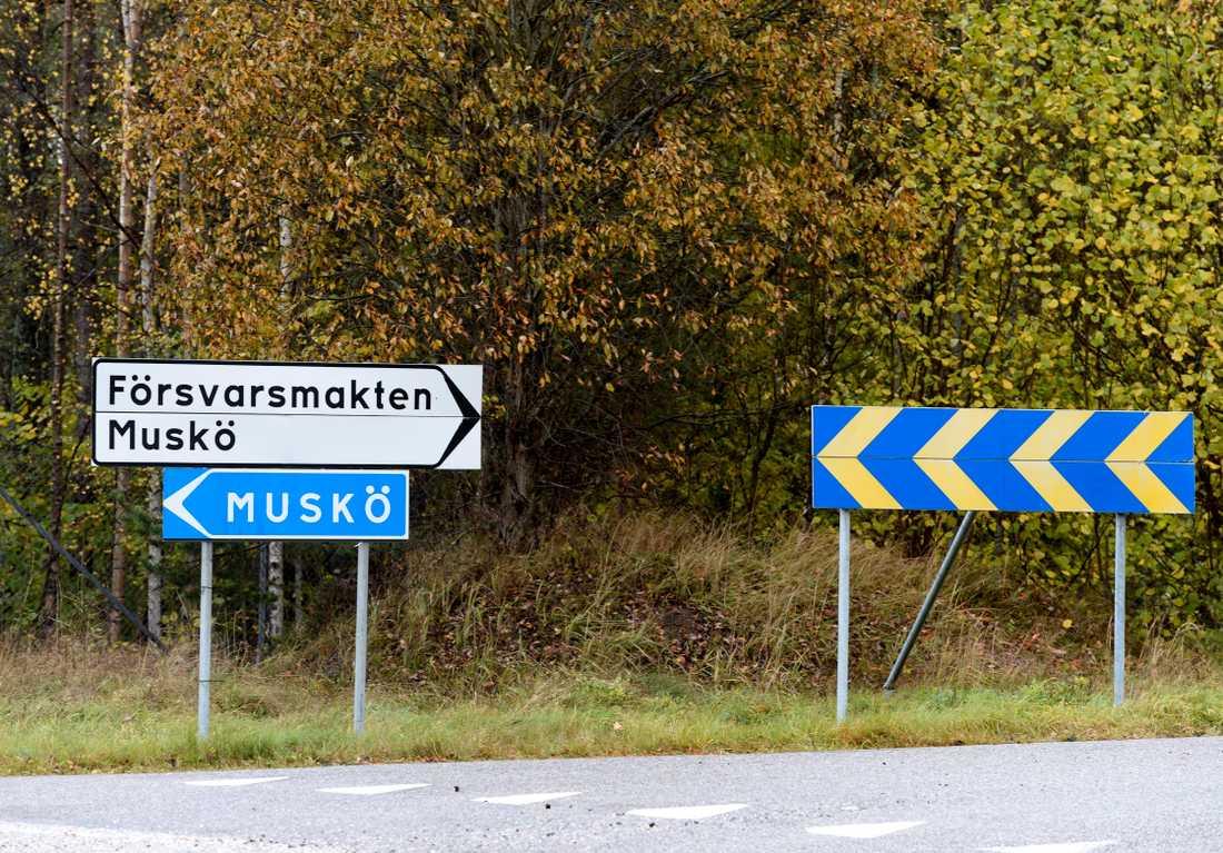 Musköbasen  i Stockholms skärgård söder om Stockholm.
