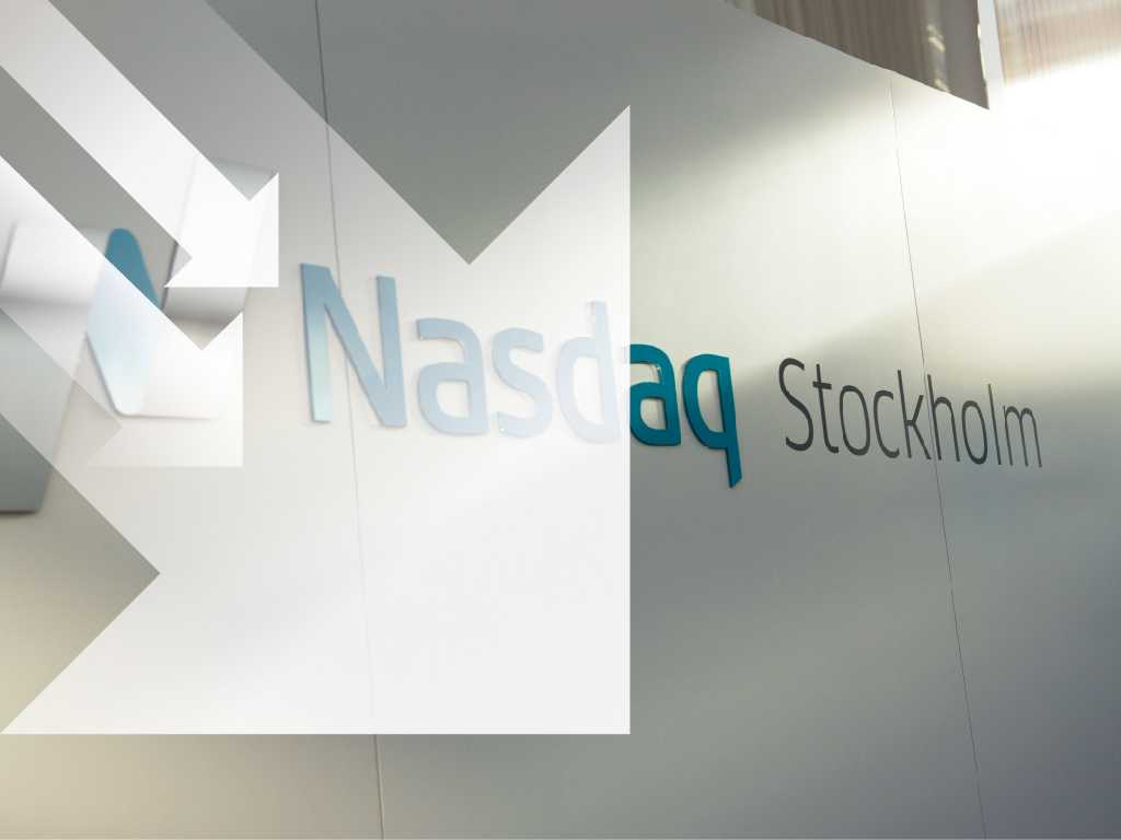 Stockholmsbörsen faller. Arkivbild.
