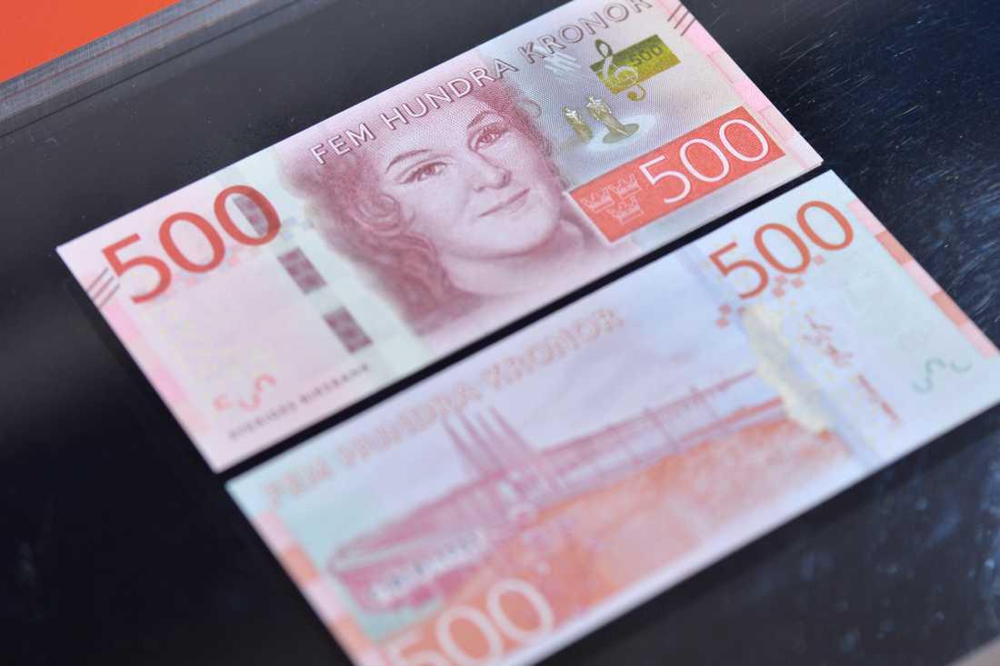 På tre månader har polisen fått in 707 falska sedlar, samtliga 500-kronorssedlar. Arkivbild.