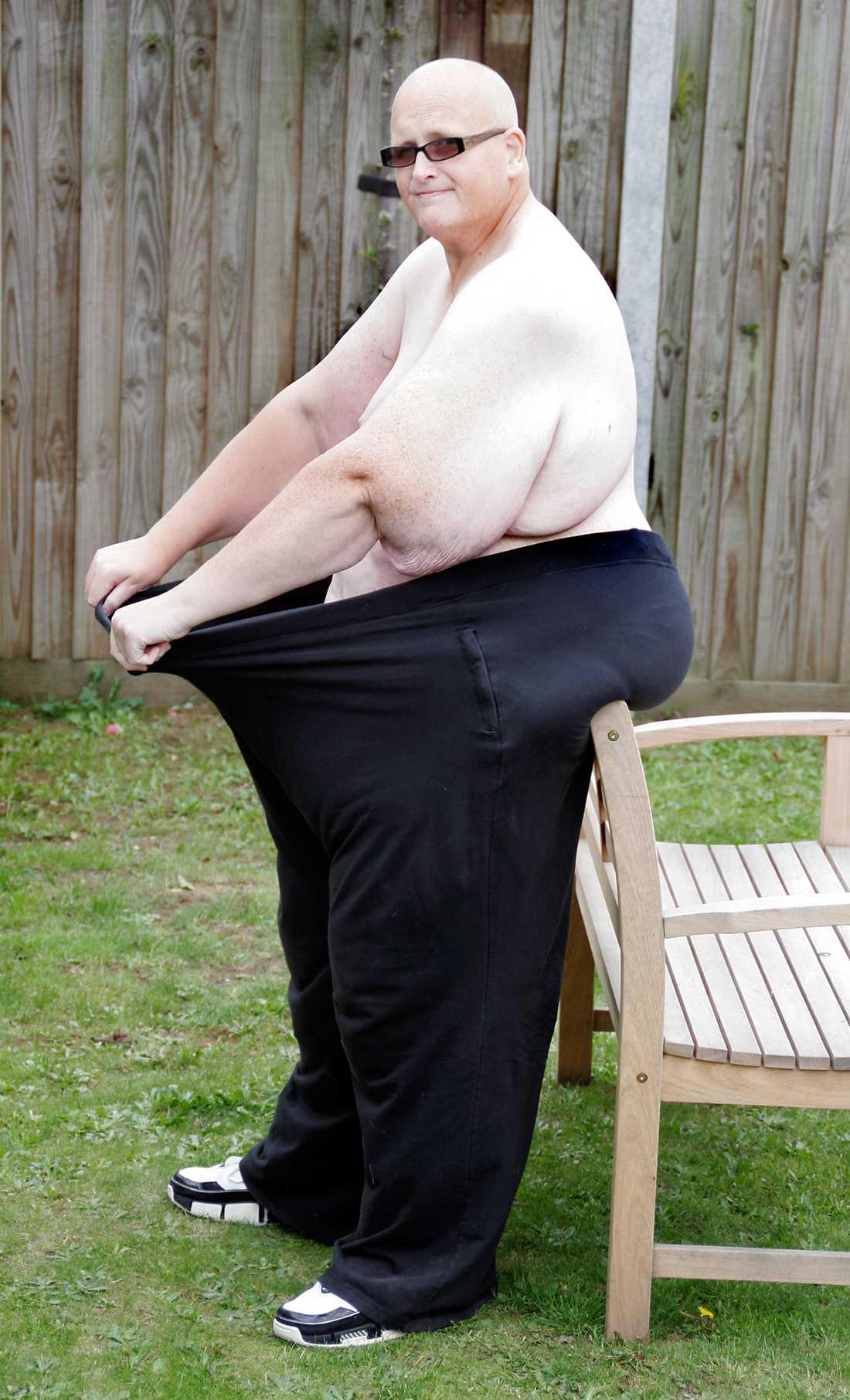 Nu väger han fortfarande över 150 kilo.