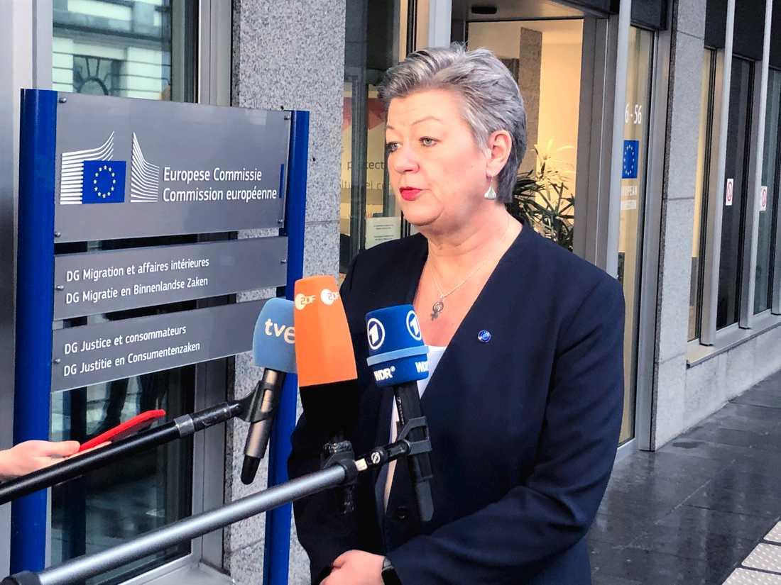 Inrikeskommissionär Ylva Johansson, med ansvar för asyl- och migrationsfrågor.
