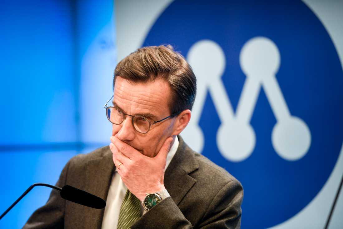 """Ulf Kristersson reagerar mot SD:s utspel om att journalister borde straffas om de """"är partiska"""". Arkivbild."""