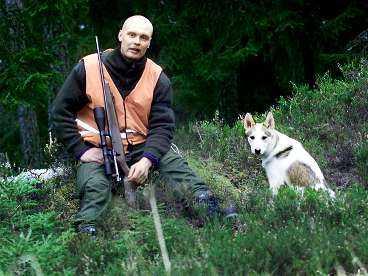 laddar om - för allsvenskan? Sportbladet träffade Klas Ingesson, 33, och hunden Molly under ett jaktpass i skogen.