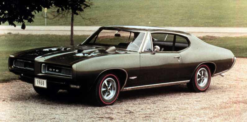 Klassiske muskelbil Pontiac GTO, denna från 1968