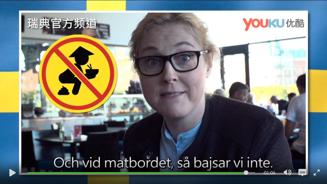 """""""Svenska nyheter"""" skojade bland annat om att man inte ska bajsa vid matbordet."""