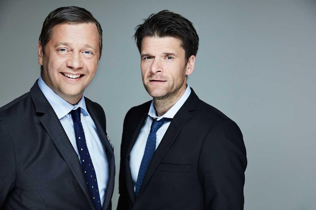 "Johan Petersson och Peter Magnusson är ""expertkommentatorer"" på den nya gameshowen Wild Things."