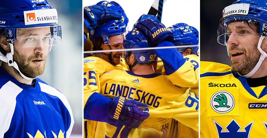Hedman och Landeskog ska assistera Lundqvist.