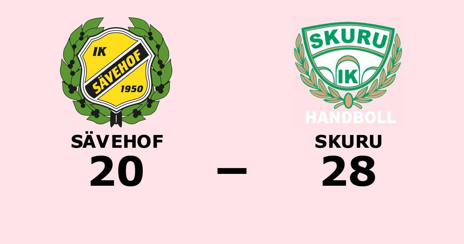 Skuru vann toppmötet mot Sävehof