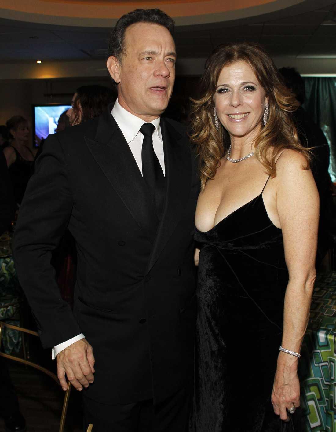 Tom Hanks med fru Rita Wilson