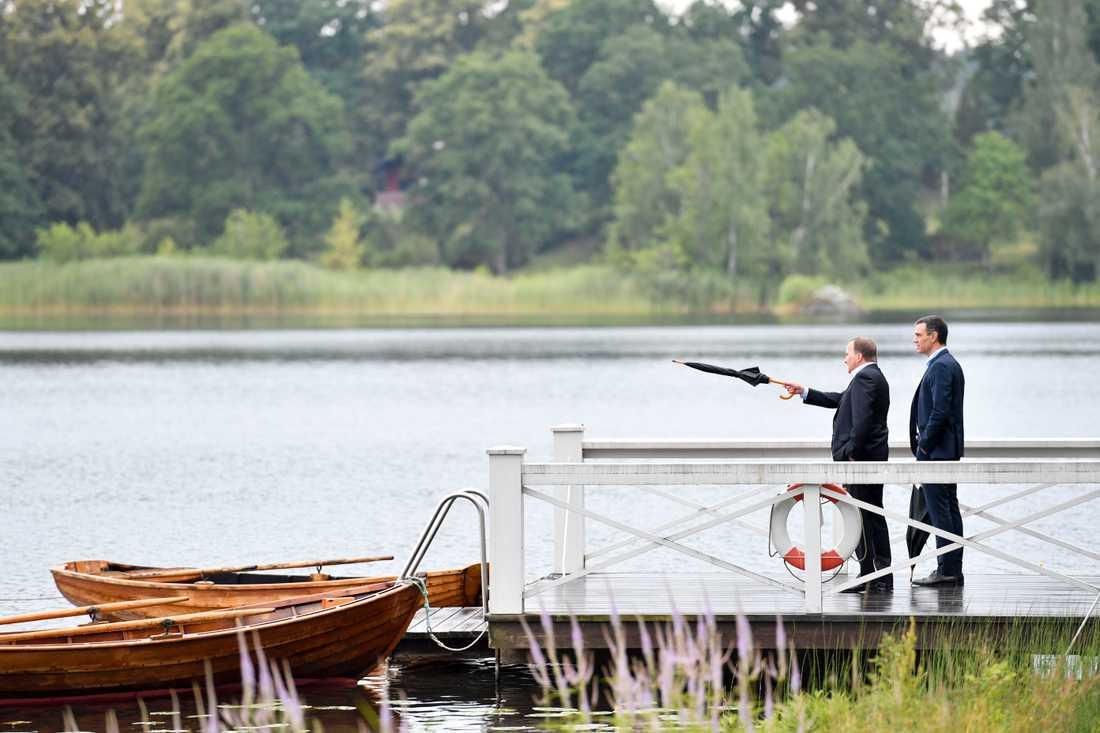 I veckan möttes Spaniens premiärminister Pedro Sánchez och Stefan Löfven för samtal på Harpsund.