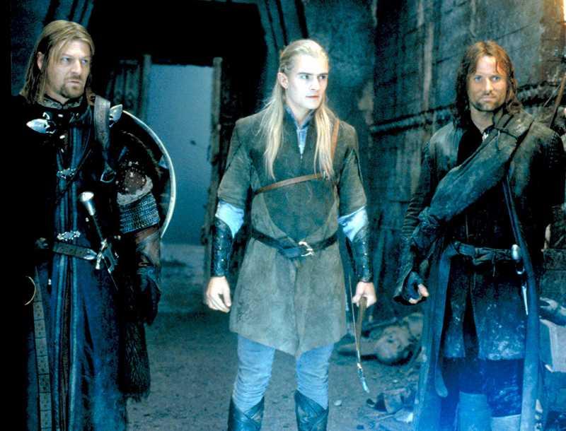 Boromir, Legolas och Aragorn.