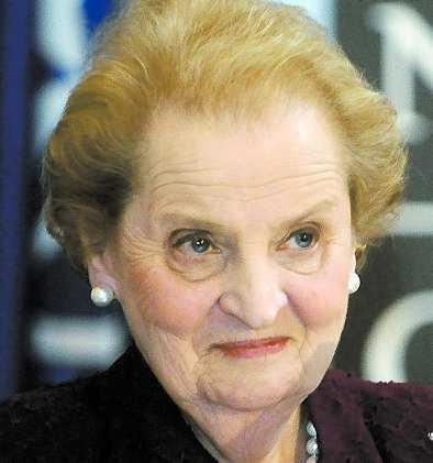 """""""Inspirerar kvinnor"""" Madeleine Albright, tidigare FN-ambassadör och utrikesminister i Clinton-administrationen."""
